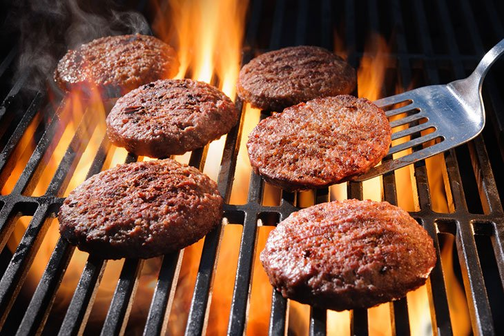 cooking frozen hamburgers on a pellet grill
